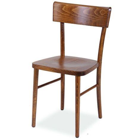 Sedie In Legno Curvato.Sedia In Legno Di Faggio Crudo Curvato Colore Noce Anticato