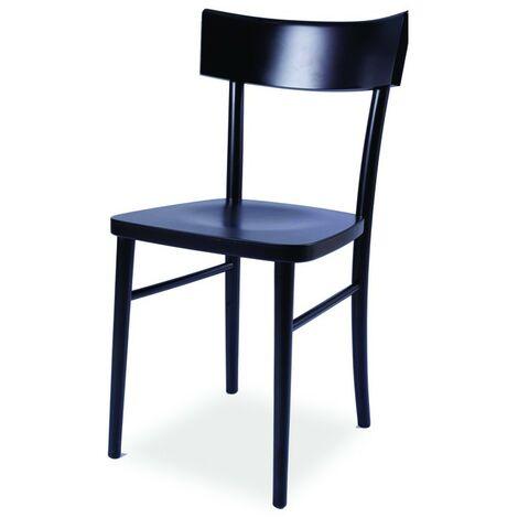 Sedie A Legno Curvo E Impagliate.Sedia In Legno Di Faggio Crudo Curvato Nero Opaco 40x42xh 81 Cm