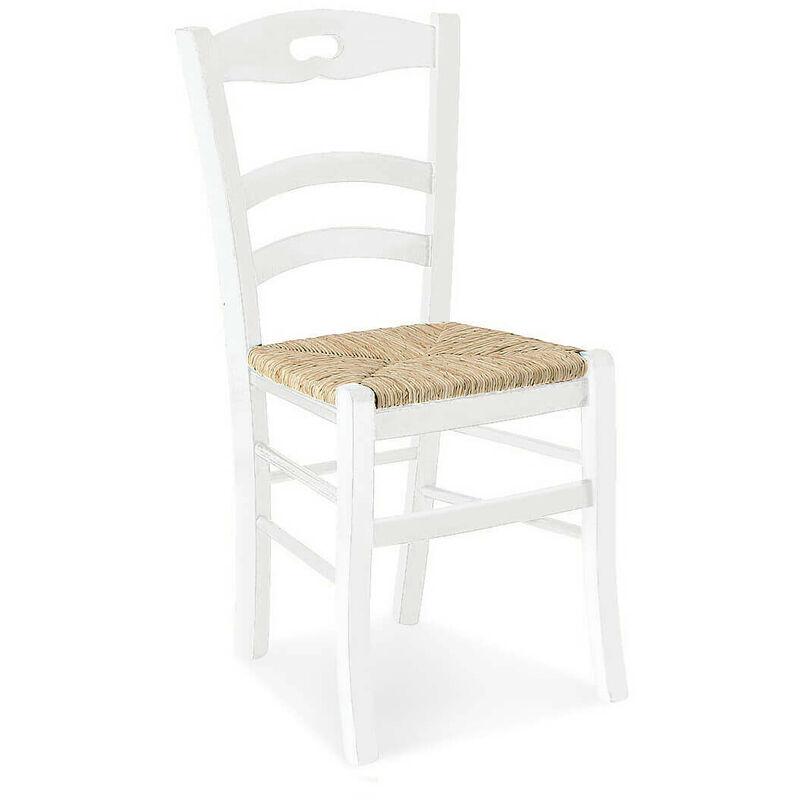 Sedie In Legno Arte Povera.Sedia In Legno Doghe Bianca Per Interno Sala Da Pranzo Salotto