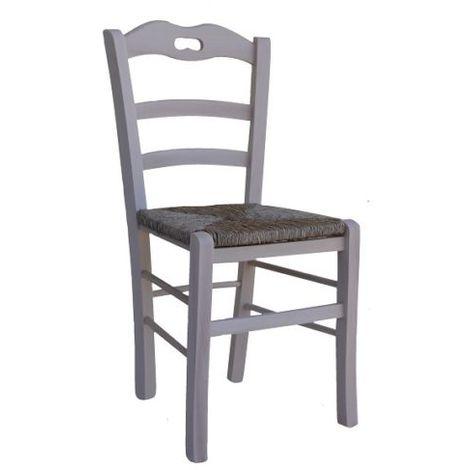 Sedie Paglia E Legno.Sedia In Legno E Seduta Paglia Valentina Grezzo Da Verniciare Con Manico