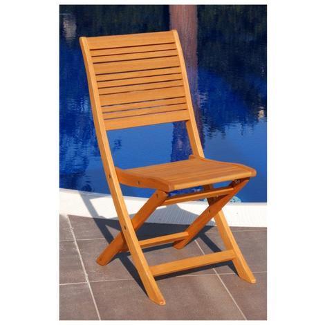 Sedia in Legno Eucalypto a marchio FSC California per giardino da esterno