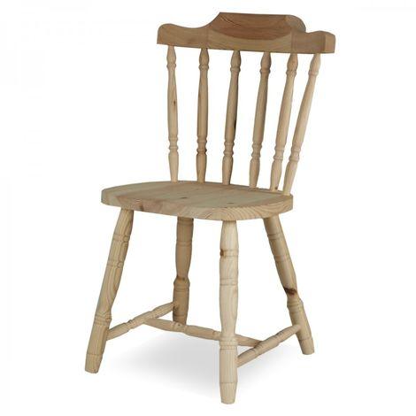 Sedia in legno grezzo - Old America