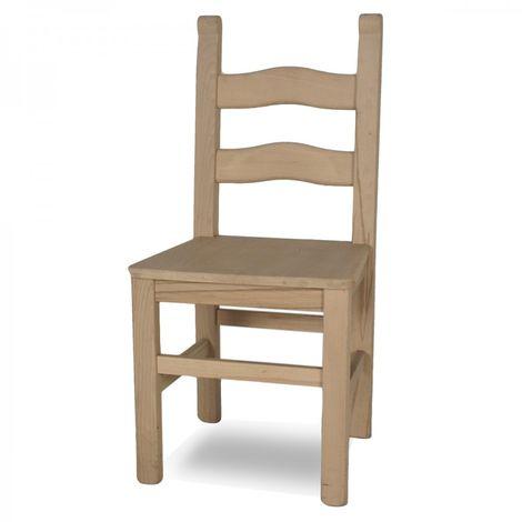Sedie In Legno Grezzo.Sedia In Legno Grezzo Rusticona