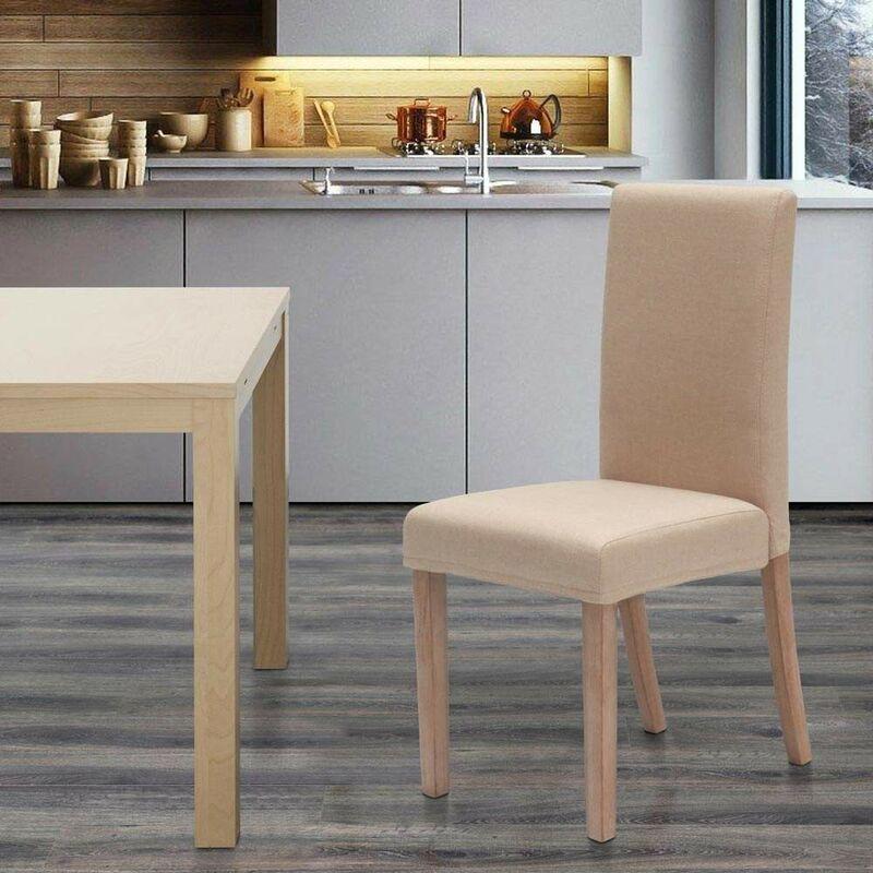 Sedia in legno imbottita stile henriksdal per cucina sala da pranzo COMFORT