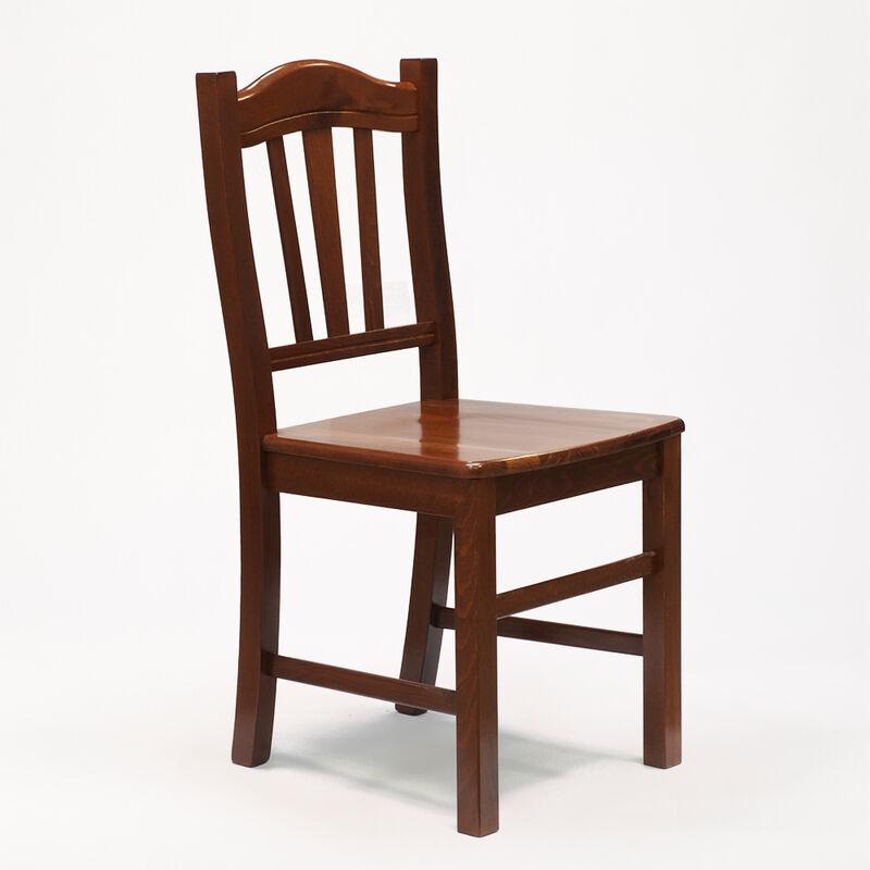 Sedia in legno in stile arte povera per sala da pranzo e cucina SILVANA esterni ed interni giardino