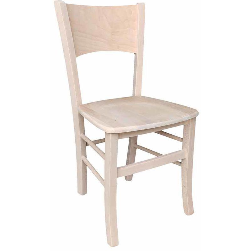 Sedia in legno massello seduta in legno massello grezza da verniciare nuova già Montata,modello LUCY