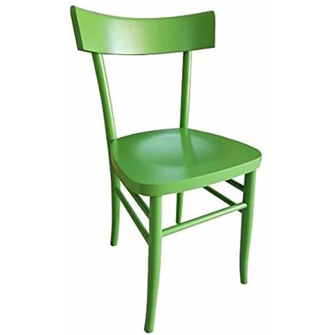 Sedie In Legno Anni 50.Sedia In Legno Modello Milano Verde Acido 6038 Gia Montata