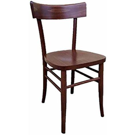 Sedia in legno noce scuro vintage milano