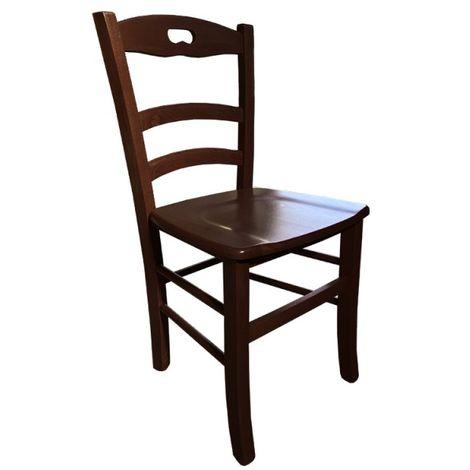 Sedia in Legno Paesana Legno Colore Noce