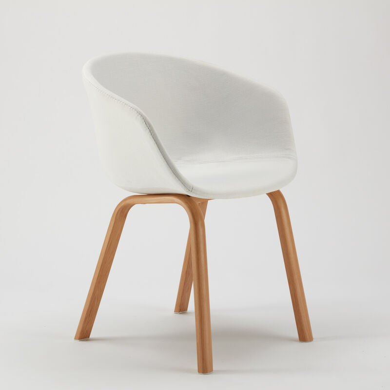 sedia scandinava tessuto bianco