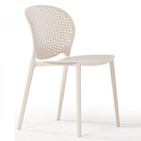 Sedie Per Esterno In Plastica.Sedia In Plastica Per Esterno Bianca Gs 1060