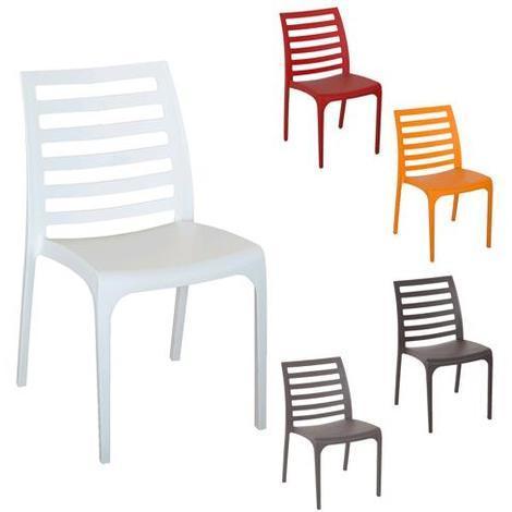 Sedie In Polipropilene Da Giardino.Sedia Da Giardino In Polipropilene Riga Arancio Dimensioni Cm