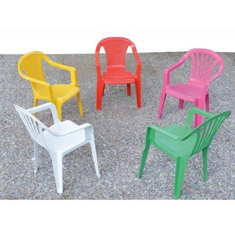 Sedie In Resina Colorate.Sedia In Resina Con Braccioli Per Bambini Colori Assortiti 36