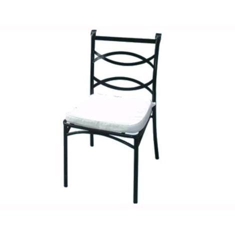 Sedia Liberty Da Giardino Esterno Con Cuscino In Acciaio Nero 49X52Xh90 Cm 1Pz