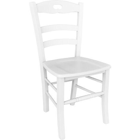 Sedie In Legno Laccate Bianco.Sedia Legno Seduta Legno Al Miglior Prezzo