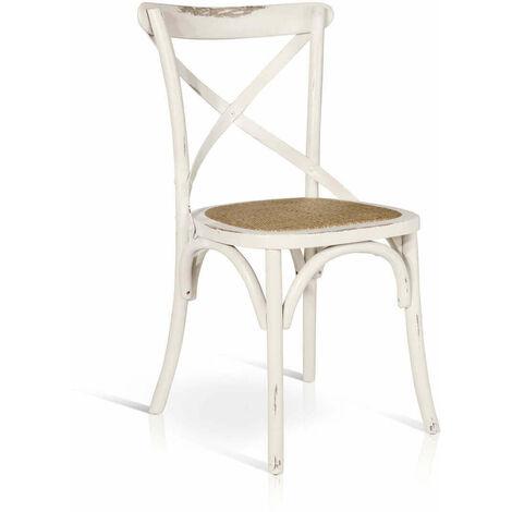 Sedia moderna di design in legno bianca con seduta in for Sedia bianca moderna