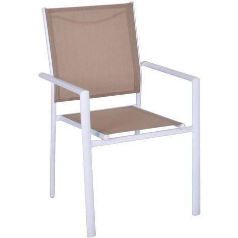 Sedia Moderna in Acciaio, Poltrona con Braccioli Perfetta per Arredo Esterno