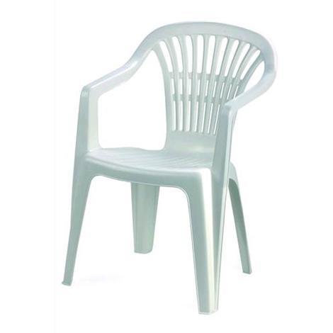 Sedie Da Giardino Impilabili.Sedia Monoblocco Impilabile Da Giardino In Polipropilene Bianca