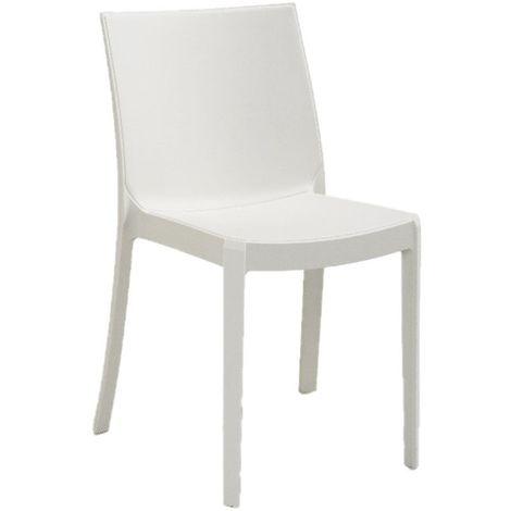 Sedie In Polipropilene Colorate.Sedia Perla Bianca In Polipropilene Impilabile Bianco Bic 350 Bia