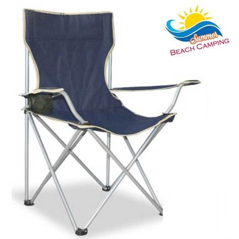Sedia Campeggio Pieghevole.Sedia Pieghevole Da Campeggio Camping Regista Apertura Ad Ombrello Colore Blu