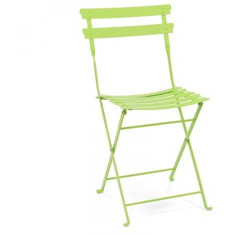 Sedie Colorate Da Giardino.Sedia Pieghevole Da Giardino In Metallo Verde Tlpretty 01c4verd