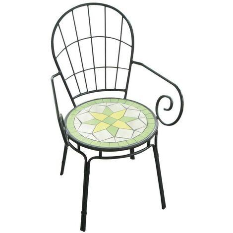 Sedia poltrona limonaia 2pz con mosaico 52xp52 arredo giardino - Salone  Negozio Online