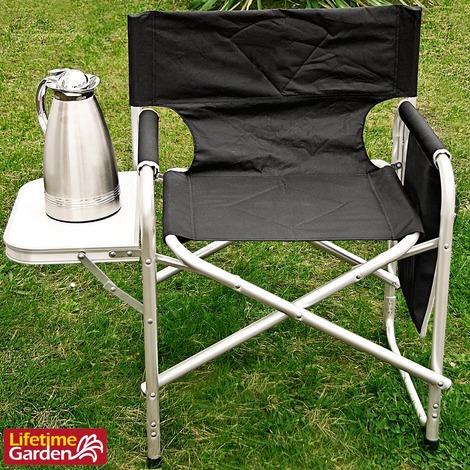 Sedie Da Campeggio Pieghevoli.Sedia Regista Da Campeggio Pieghevole Con Tavolino Tasca