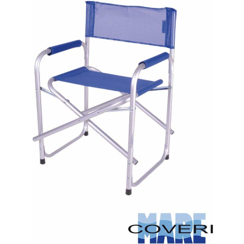 Sedia Regista Alluminio Offerte.Sedia Da Regista Mare Piscina Spiaggia Pieghevole In Tessuto Blu