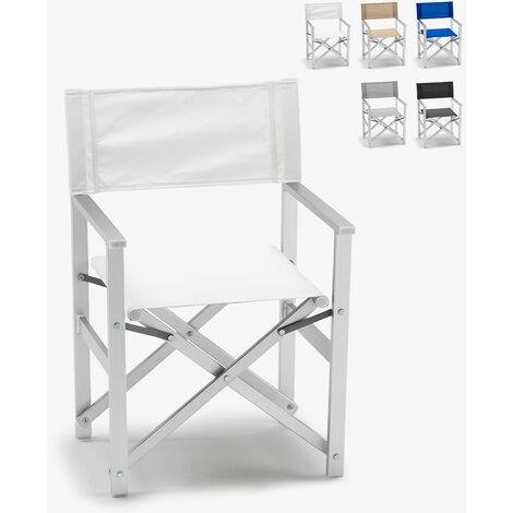 Sedia Da Regista Alluminio Robuste.Sedia Regista Mare Spiaggia Alluminio Textilene Lusso