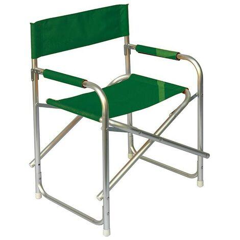 Sedie Pieghevoli Regista Alluminio.Sedia Regista Pieghevole In Alluminio Set Da 6 Verde