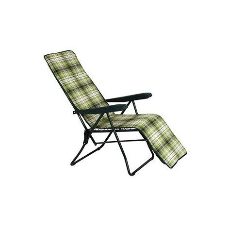 Sdraio Imbottita Con Poggiapiedi.Sedia Sdraio 6 Posizioni Imbottita Con Poggiapiedi Marechiaro Verde