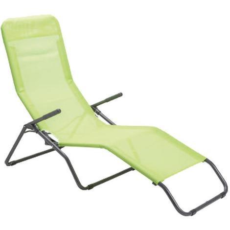 Sedie A Sdraio Per Spiaggia.Sedia Sdraio Basculante In Ferro Con Braccioli Mela Verde Long Beach Da Spiaggia Mare Basculante A0071098 0