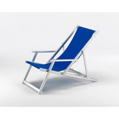 Sedie Sdraio Pieghevoli Alluminio.Sedia Sdraio Braccioli Pieghevole Professionale Alluminio Spiaggia Piscina Mare 94480