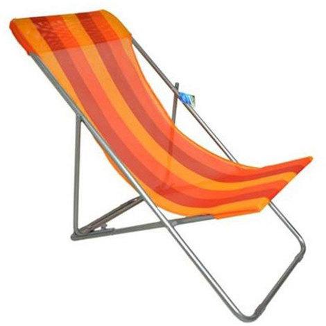 X Blu Vetrineinrete/® Sedia Sdraio spiaggina Regolabile e Pieghevole da Mare Leggera in textilene Resistente per Spiaggia Piscina Campeggio