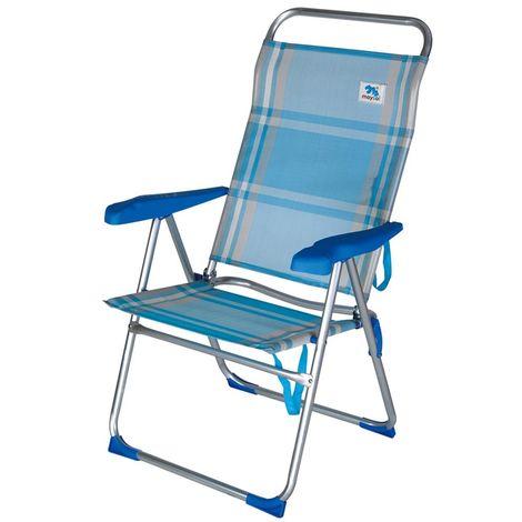 Sedie Pieghevoli Per Spiaggia.Sedia Sdraio Spiaggia Pieghevole Sun Comfort In Alluminio