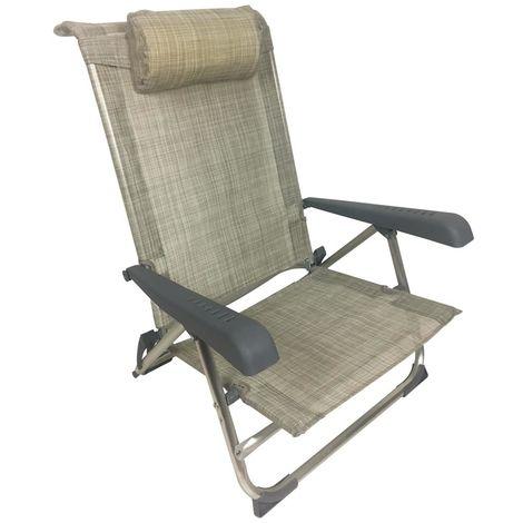 Sdraio Per La Spiaggia.Sedia Sdraio Spiaggia Sun Pieghevole In Alluminio 39x47xh24 77 Cm Mare