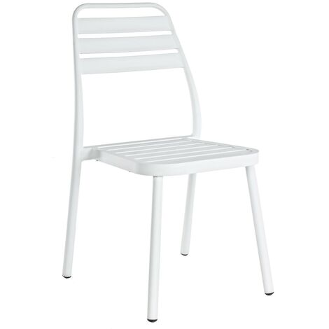 Sedie Da Giardino Impilabili.Sedia Sedie Per Esterno Da Giardino Lennie In Aluminio Bianco
