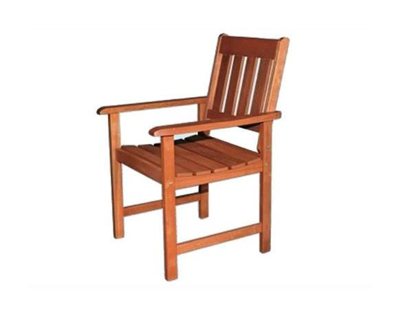 Sedie In Legno Con Braccioli : Sedia seduta in legno con braccioli da esterni giardino mod