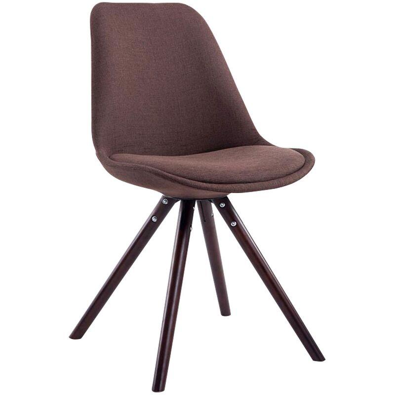 Sedia Toulouse in stoffa gambe tonde Marrone Cappuccino ...