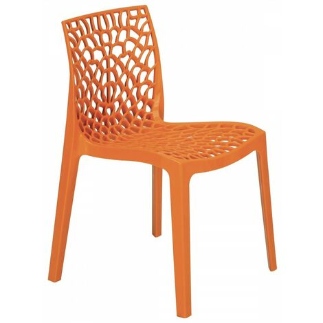 Sedie Polipropilene Design.Sedia Traforata Da Interni Esterni Di Design In Polipropilene