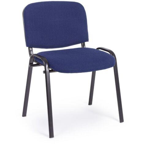 Sedia Visitatore Da Conferenza Per Auditorium E Sale D Attesa Impilabile Blu Confezione Da 6 Pezzi 70412 0