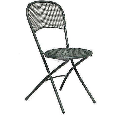 Sedie In Ferro Pieghevoli.Sedia Voila Pieghevole In Acciaio Verniciato Ferro Antico Emu