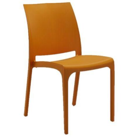Sedia VOLGA in polipropilene impilabile arancio set 1 (Arancio - 1 SEDIA)