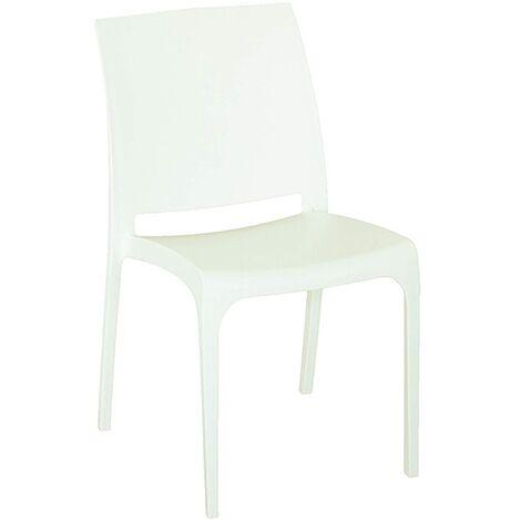 Sedia VOLGA in polipropilene impilabile bianco set 1 (Bianco - 1 SEDIA)