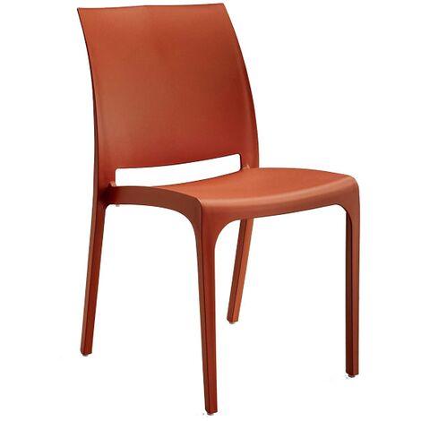 Sedia VOLGA in polipropilene impilabile rosso set 1 (Rosso - 1 SEDIA)