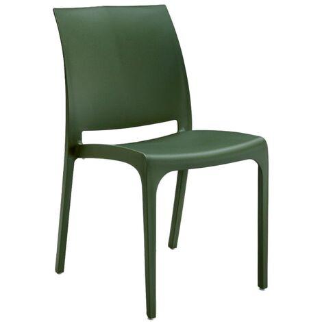 Sedia VOLGA in polipropilene impilabile verde chiaro set 1 (verde chiaro - 1 SEDIA)
