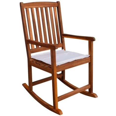 Sedie In Legno Per Giardino.Sedie A Dondolo Da Giardino In Legno Acacia