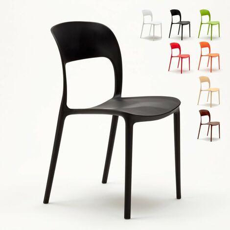 Sedie In Plastica Da Interno.Sedie Cucina Casa Bar Ristorante In Polipropilene Colorate Design