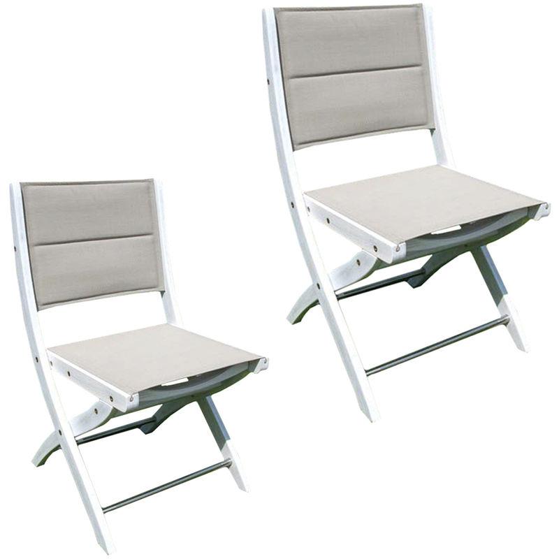 Sedie Pieghevoli Per Esterno.Sedie Da Esterno Sedia Pieghevole In Legno Di Acacia Bianco