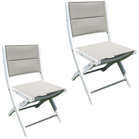 Sedie da esterno sedia pieghevole in legno di acacia bianco giardino ...
